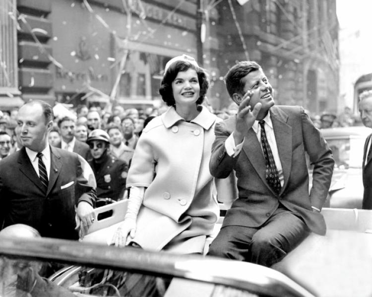 Kennedys in Dallas motorcade.