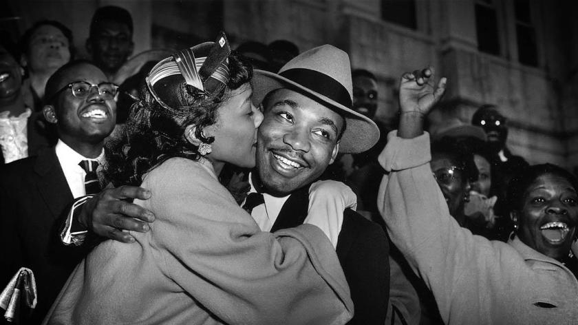 MLK and wife